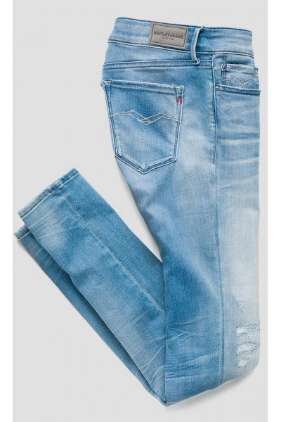 Jeans REPLAY Pitillo Hyperflex Luz Broken & Repair
