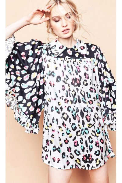 Vestido TETE BY ODETTE Corto Print Leopardo