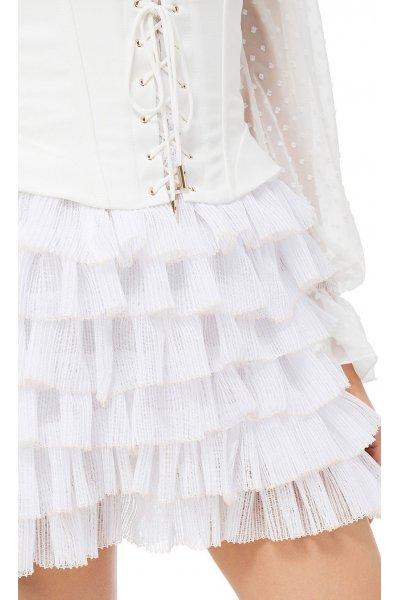 Mini Vestido ELISABETTA FRANCHI Volantes + Corsé