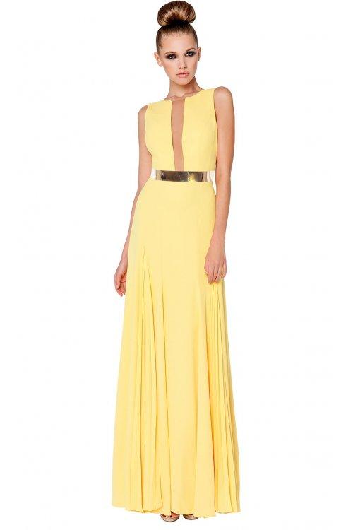 Vestidos largos en amarillo