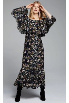 Vestido STYLEKEEPERS Day Dreamer Black Floral