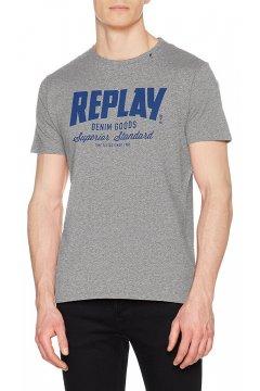 Camiseta REPLAY Gris Logo
