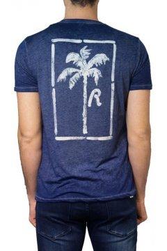 Camiseta REPLAY Print Palmera Azul