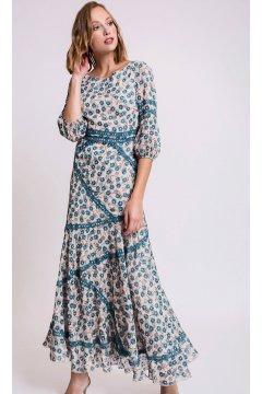 75caa18d79f Vestido ALBA CONDE Floral Azul ...