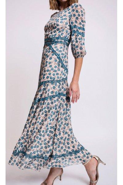 Vestido ALBA CONDE Floral Azul