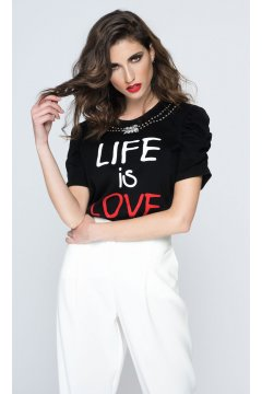 Camiseta SAHOCO Mensaje Life is Love