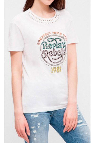 Camiseta REPLAY Stass Decorativo