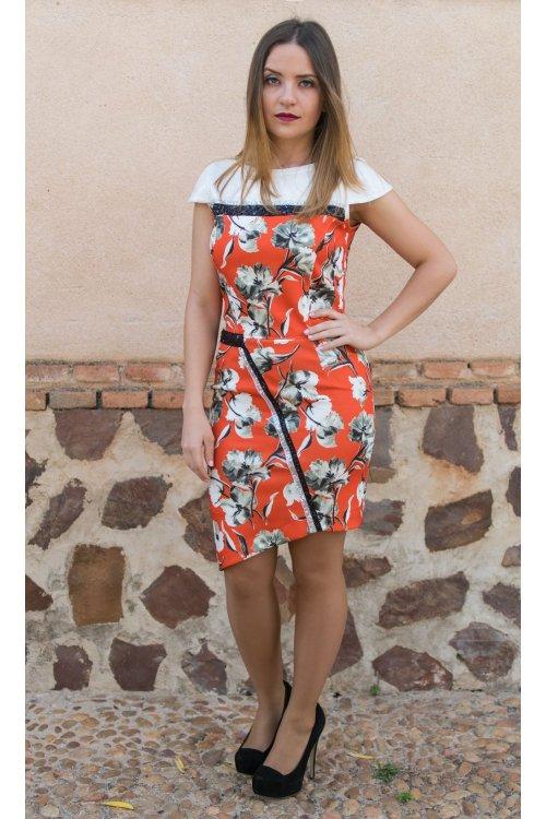 Vestido CONCEPTO PRIVEE Neopreno Floral