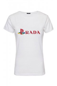 Camiseta Unisex FUCK YOUR FACE Prada Play Station