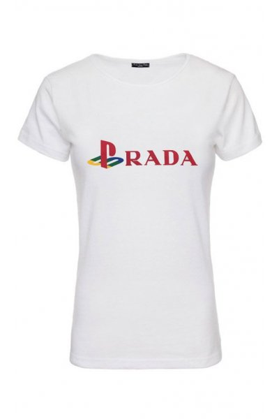 Camiseta Unisex FUCK YOUR FACE Prada Play Station