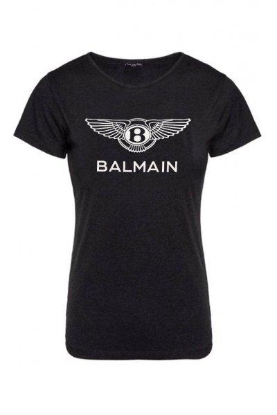 Camiseta Unisex FUCK YOUR FAKE Balmain Negra