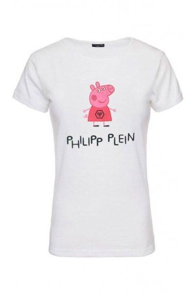 Camiseta Unisex FUCK YOUR FAKE Pepa Pig Philipp Plein
