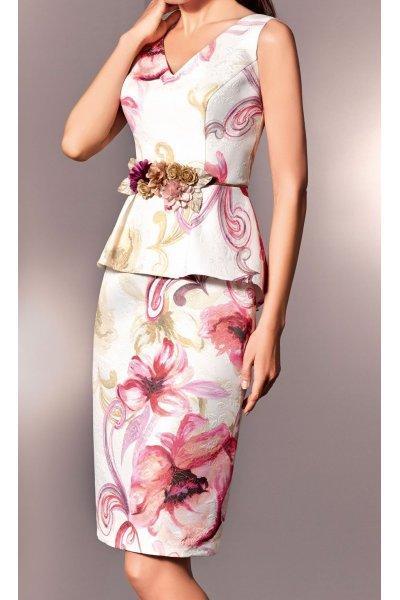 Vestido NATI JIMENEZ Floral Peplum