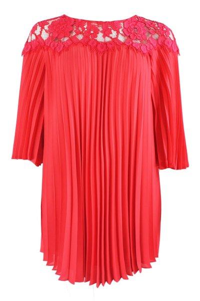 Vestido CARLA RUIZ Plisado Encaje