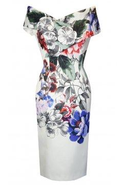 Vestido CARLA RUIZ Escote Barco Floral