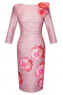 Vestido CARLA RUIZ Estampado Rosas