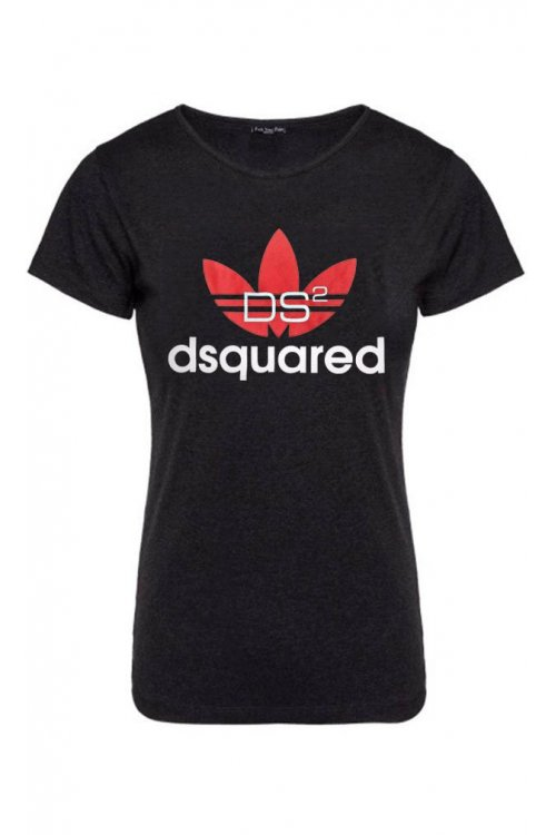 Camiseta Unisex FUCK YOUR FACE Dsquared2 Adidas Negra
