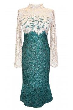 Vestido CARLA RUIZ Combinado Encaje