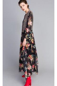 Vestido TWIN-SET Largo Estampado Floral