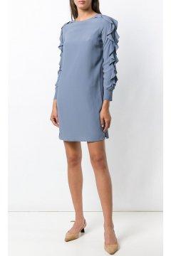 Vestido TWIN-SET de Seda con Volantes