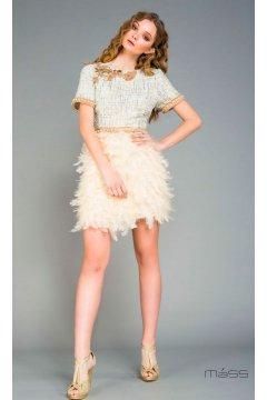 Vestido MATILDE CANO Chanel Plumas