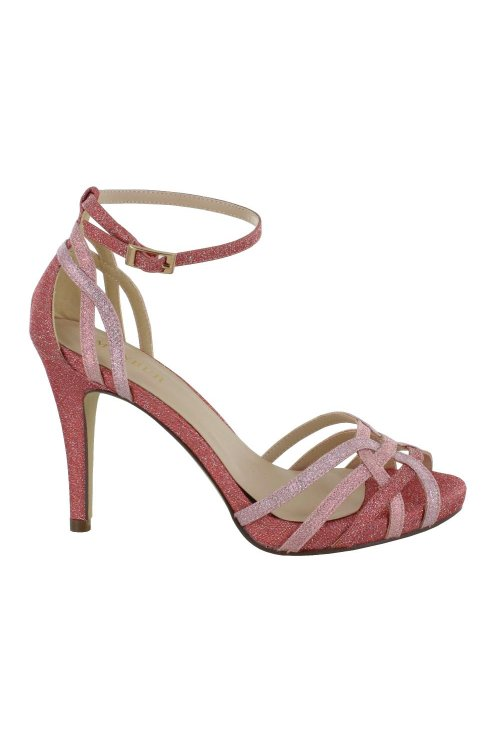 Zapato MENBUR Tiras Glitter Rosa