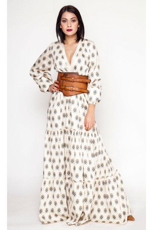 Vestido Mangata Largo Print Calaveras