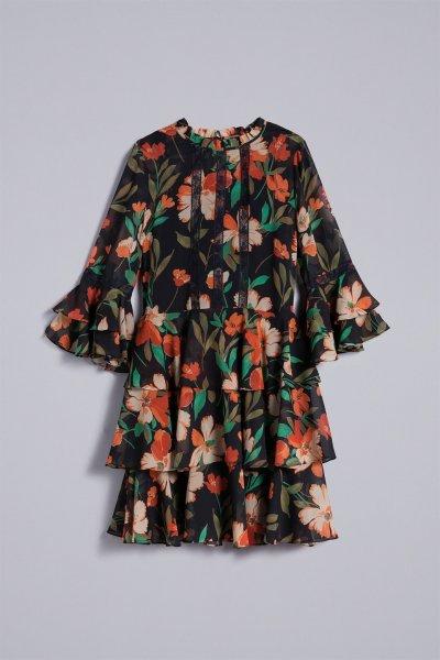 Vestido TWINSET Estampado Gasa TA825R