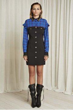 Vestido DENNY ROSE  Combinado Cuadros 821DD10005