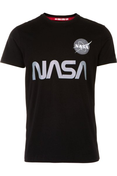 Camiseta ALPHA INDUSTRIES NASA Reflective T Black 178501