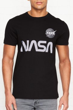 Camiseta ALPHA INDUSTRIES NASA Reflective T Black 178501