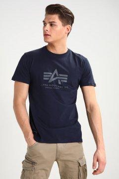 Camiseta ALPHA INDUSTRIES Basic T-Shirt Logo Grey Heather 1005001