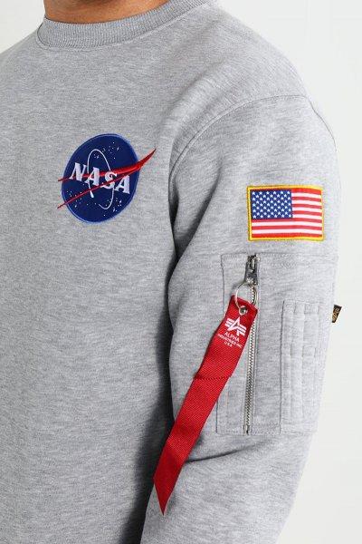 Sudadera ALPHA INDUSTRIES Space Shuttle Grey Heather 178307