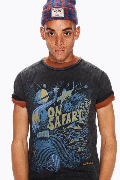 Camiseta SCOTCH & SODA Desgastada Motivos Gráficos 147394