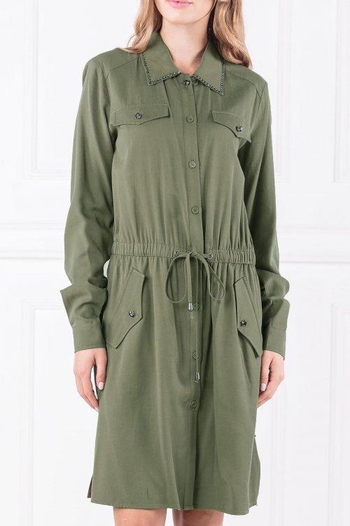 Vestido TWINSET Camisero Verde ja82pc