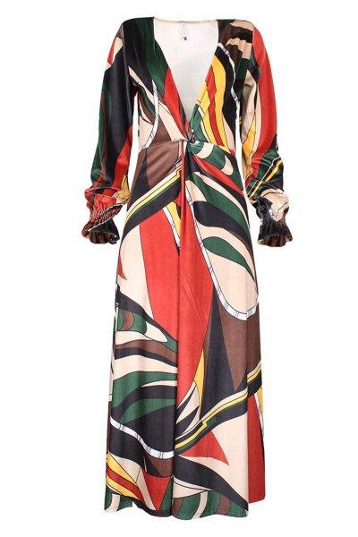 Vestido SAHOCO Midi Estampado Multicolor SH1803551A