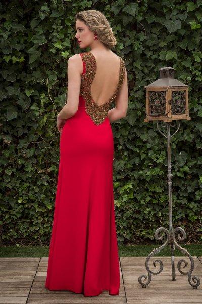 Vestido NURIBEL COUTURE Escote Espalda Joya