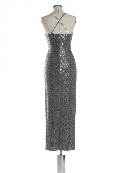 Vestido DENNY ROSE Largo Lentejuelas Tirantes 822DD10065