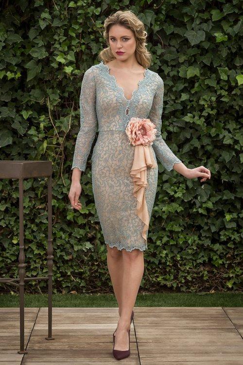 Vestido NURIBEL COUTURE Rosetón 12914