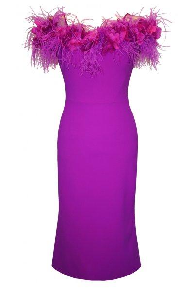 Vestido CARLA RUIZ Escote Floral 95716