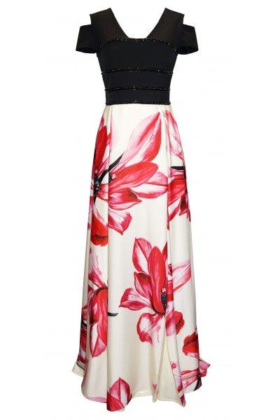 Vestido CARLA RUIZ Falda Estampada 95743