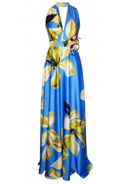 Vestido CARLA RUIZ Halter Floral 95746