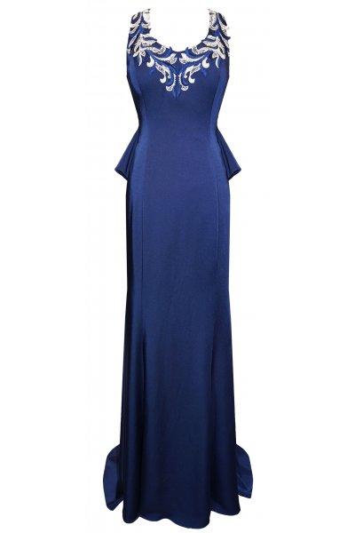 Vestido CARLA RUIZ Largo Escote Bordado 95474