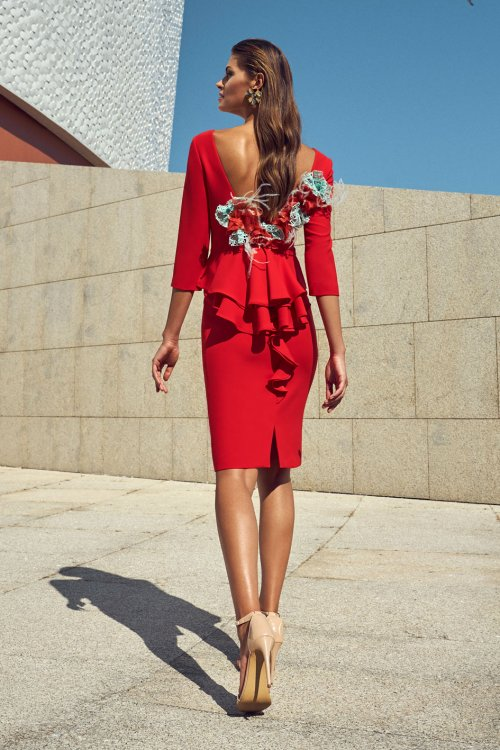 Vestido CARLA RUIZ Adorno Espalda 95706
