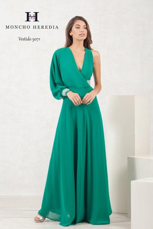 Vestido MONCHO HEREDIA Verde Asimétrico 6915071
