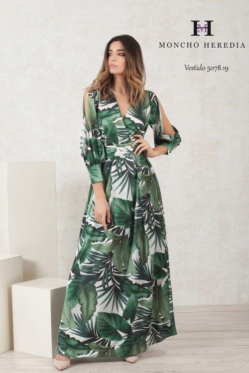Vestido MONCHO HEREDIA Largo Hojas 691507819