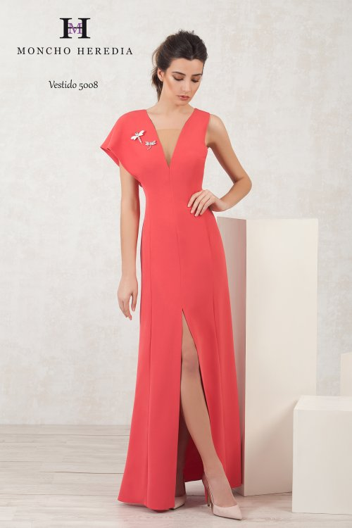 Vestido MONCHO HEREDIA Largo Coral 6915008