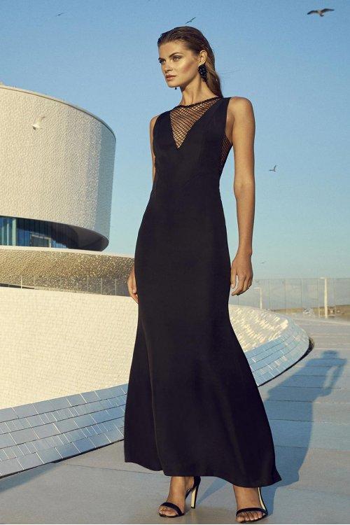 Vestido CARLA RUIZ Largo Negro 95748