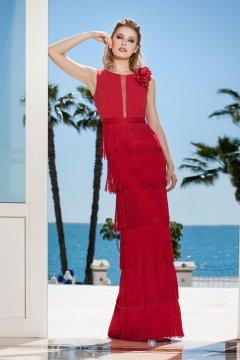 Vestido SONIA PEÑA Largo Flecos 1190184