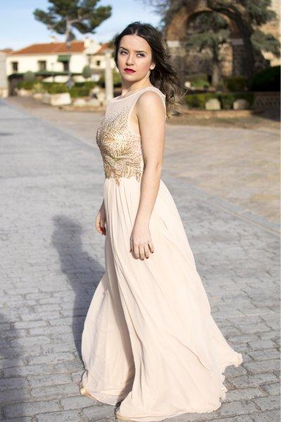 Vestido CARLA RUIZ Largo Cuerpo Strass 95424